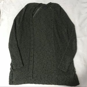 Army Green Knit American Eagle Sweater